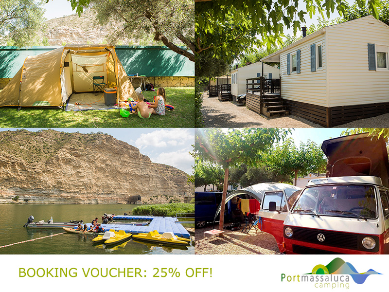 Booking voucher discount in PortMassaluca camping