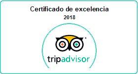 Logo certificat d'Exelance Tripadvisor 2018