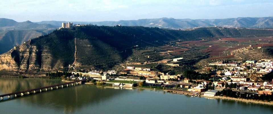 mequinenza vilage view in spain